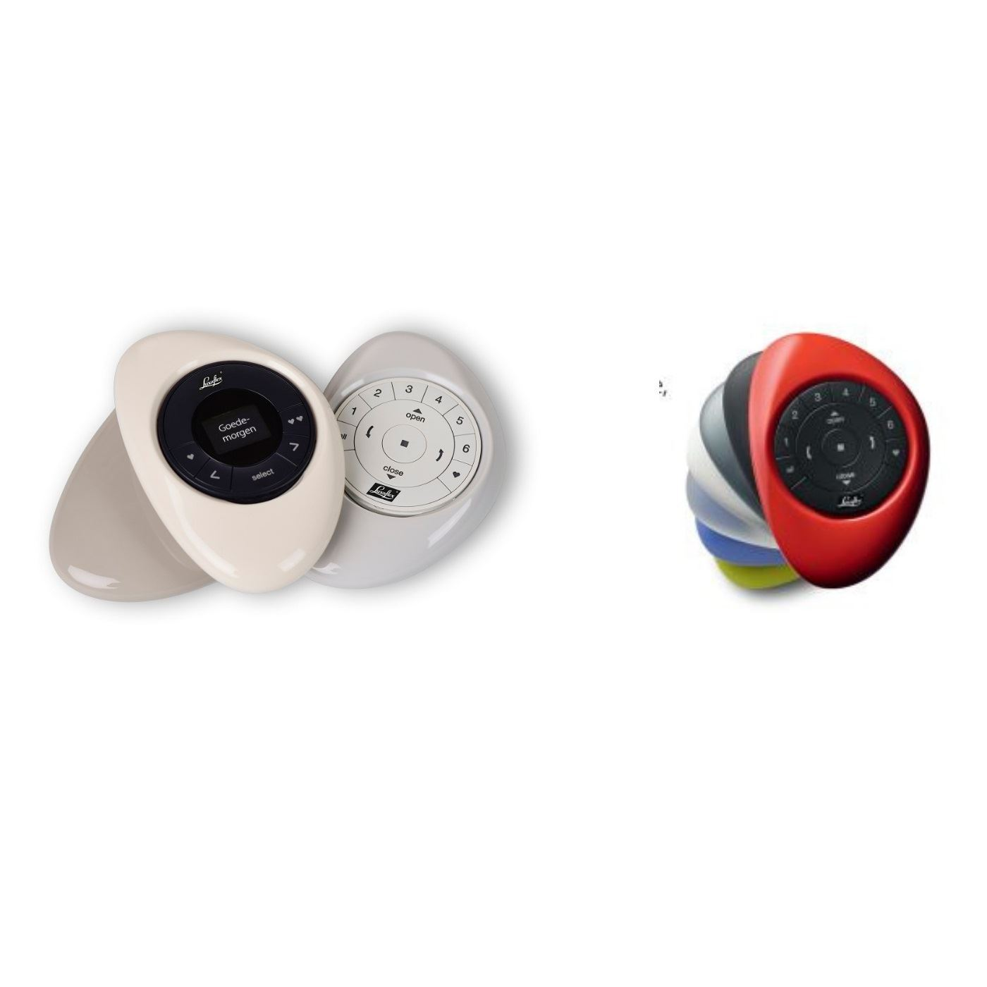 PowerView® Remote Kit:Wandhouder of Pebble met Afstandbediening